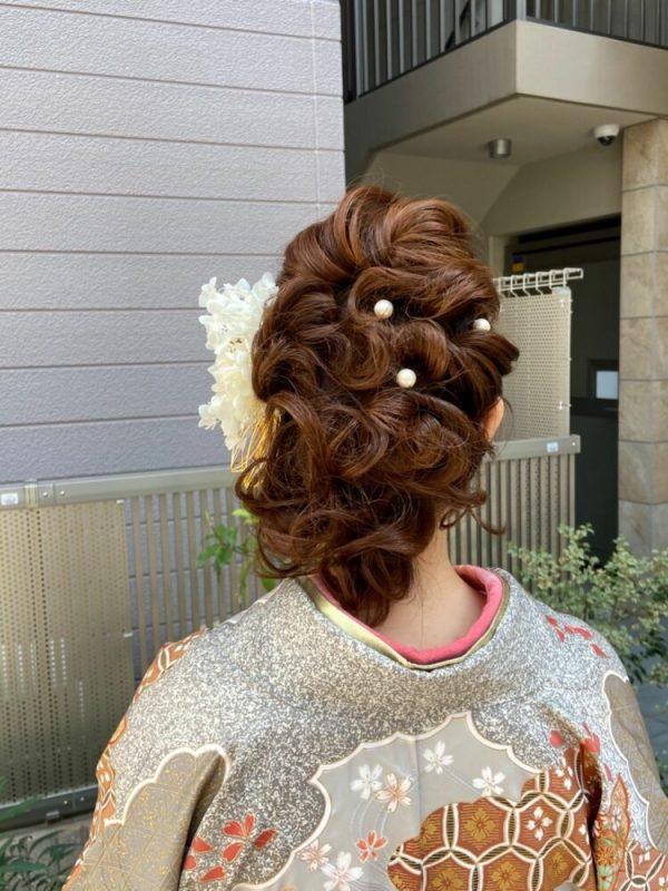着物のミディアム髪型7