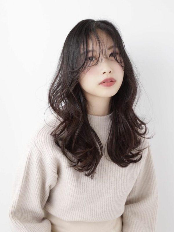 黒髪×シースルーバング15