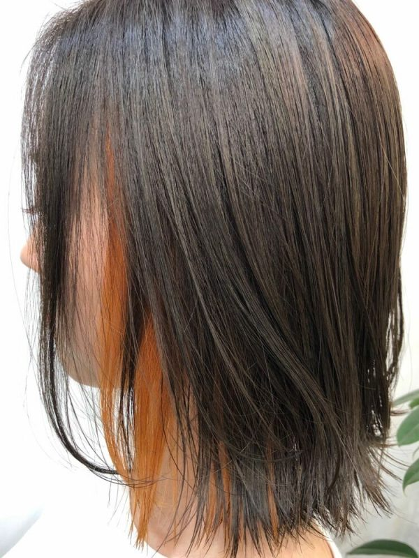 メリハリがある可愛いインナーカラーの髪型