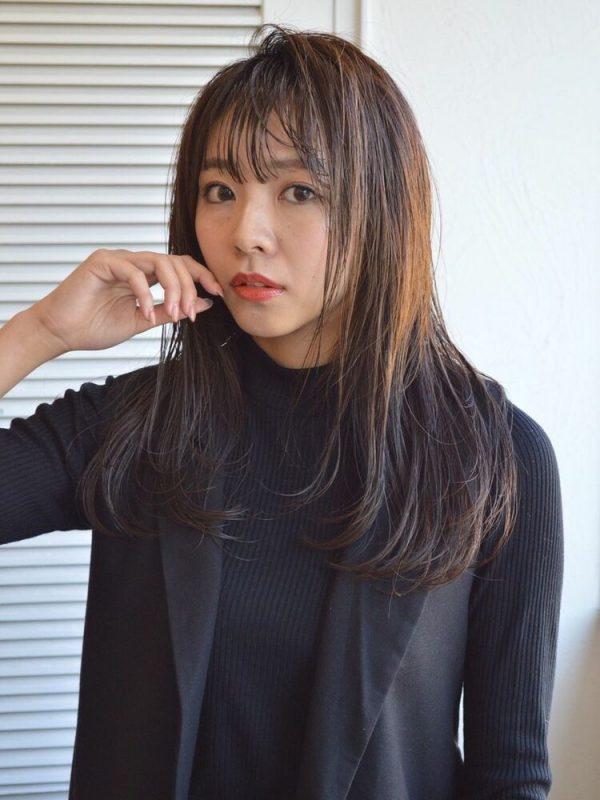 黒髪×シースルーバング13