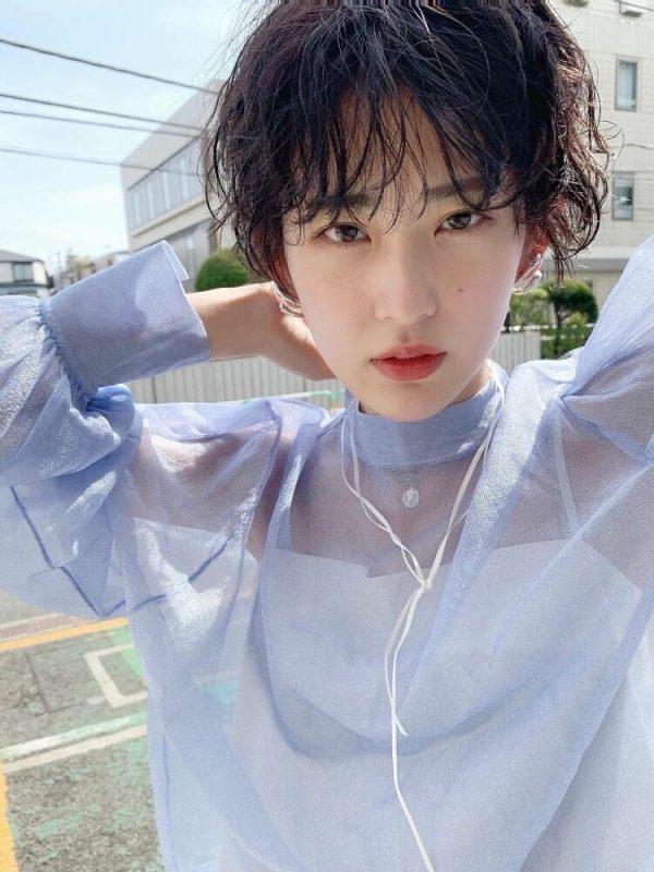 黒髪×シースルーバング3