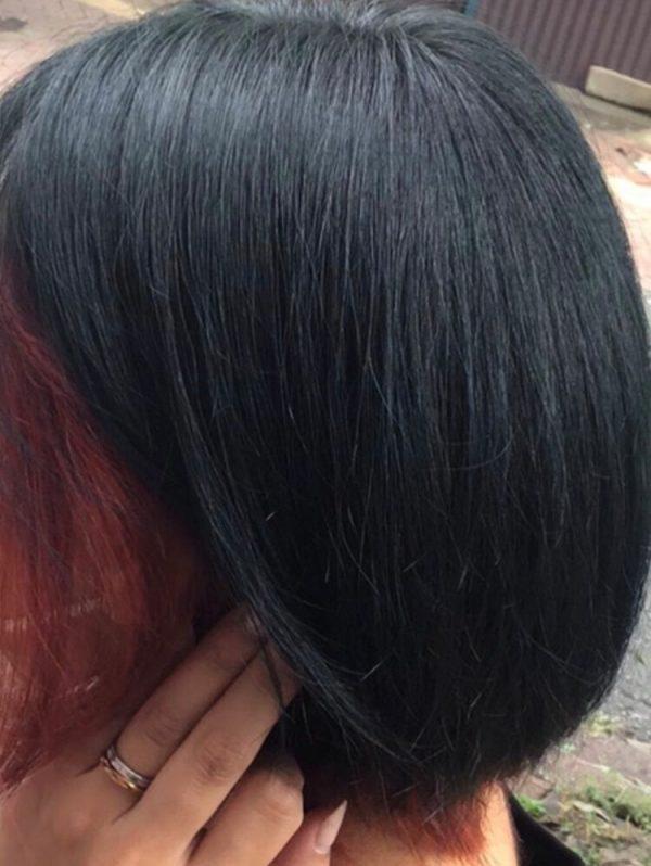 黒髪・暗髪のワンポイントにする赤インナーカラー