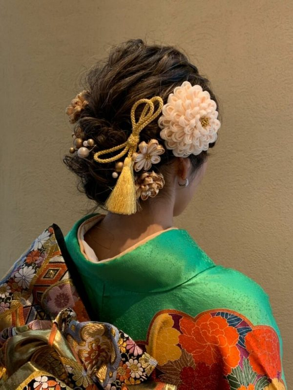 着物のミディアム髪型11