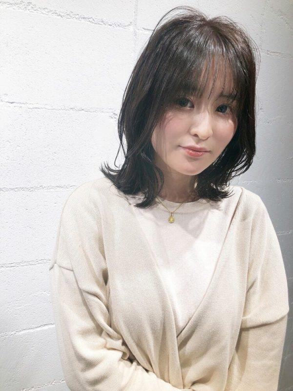 黒髪×シースルーバング8