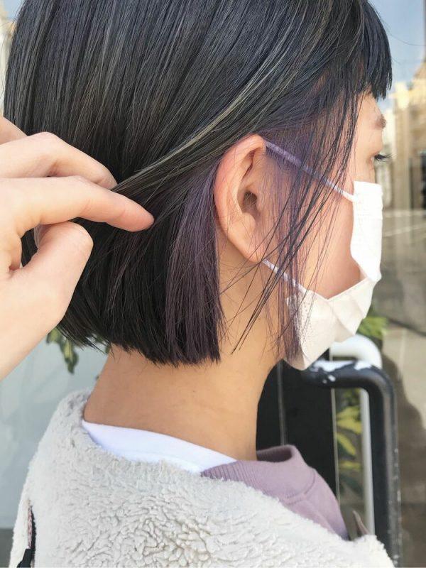 ちら見えがおしゃれなインナーカラーの髪型