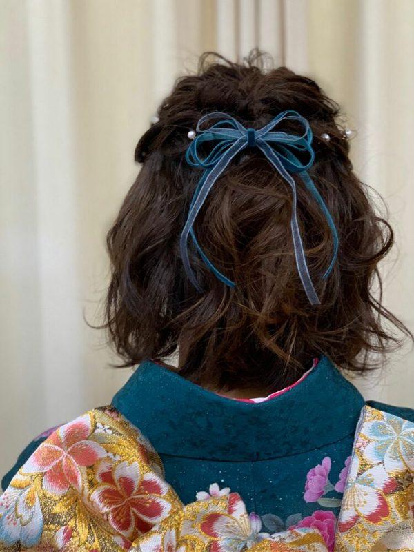 着物のミディアム髪型3