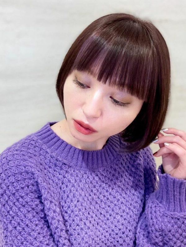 華やかさが増すインナーカラーの髪型