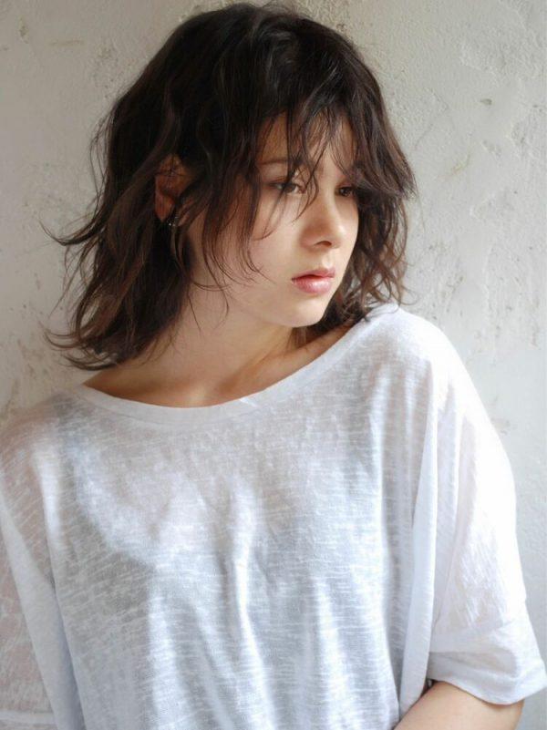 ミディアムパーマ×前髪あり5