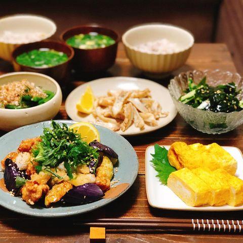 激ウマ!鶏唐と揚げなすのおろしポン酢レシピ