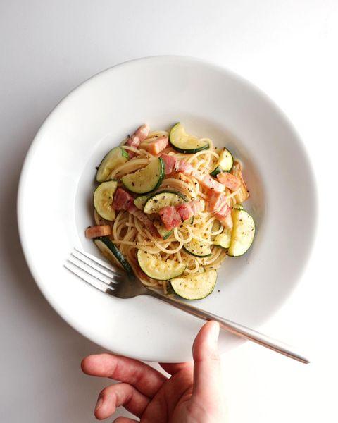 夏野菜ズッキーニのパスタ