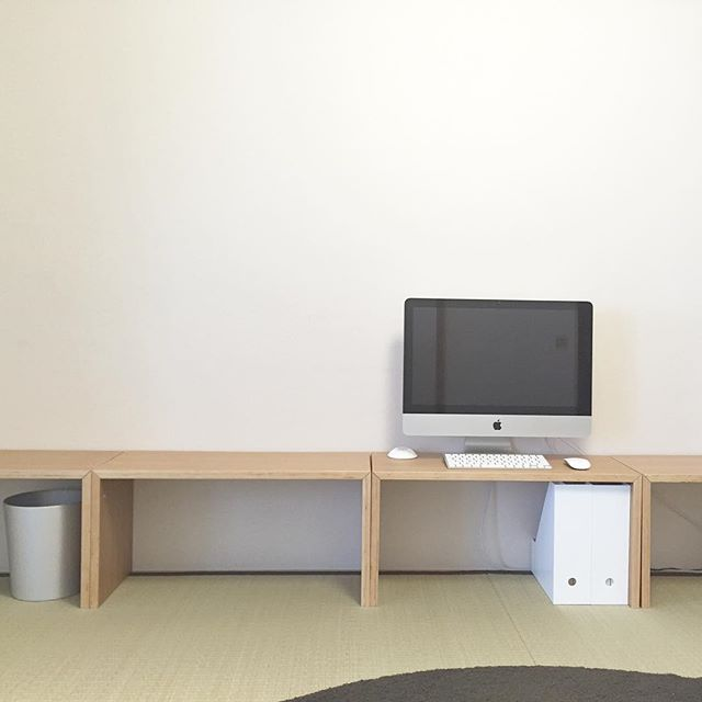 手作りカウンターを使った和室実例