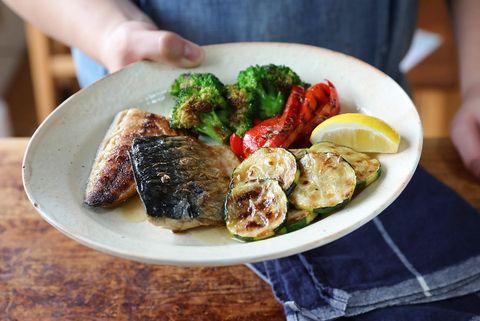 美味しい鯖と夏野菜のグリル