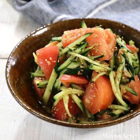 トマトときゅうりの和え物