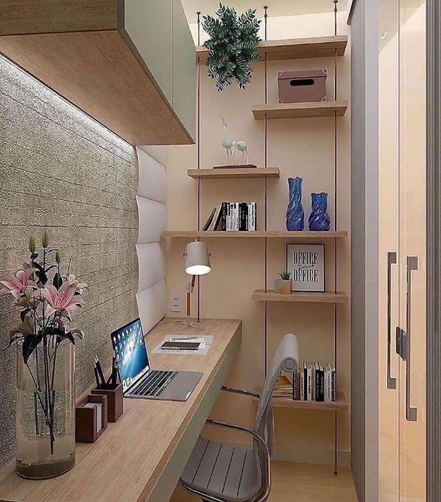 木目ベージュの書斎部屋