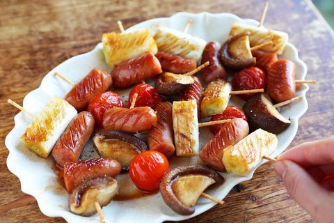 ウインナーといろいろ野菜のミニ串焼きレシピ