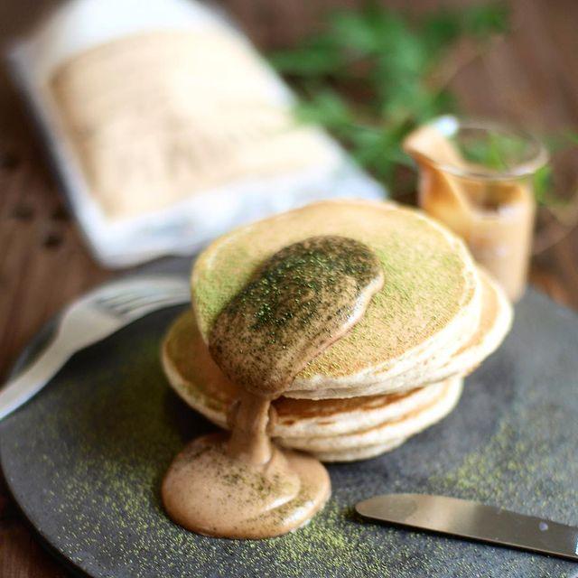 美味♡黒糖きなこクリームのパンケーキレシピ