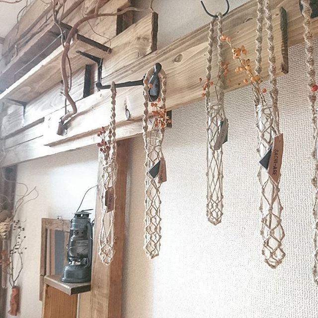 木板の板壁収納
