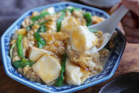 ヘルシー料理で大量消費♡ニラ玉豆腐レシピ
