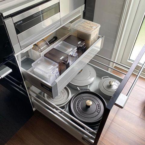 ホーロー鍋の収納法