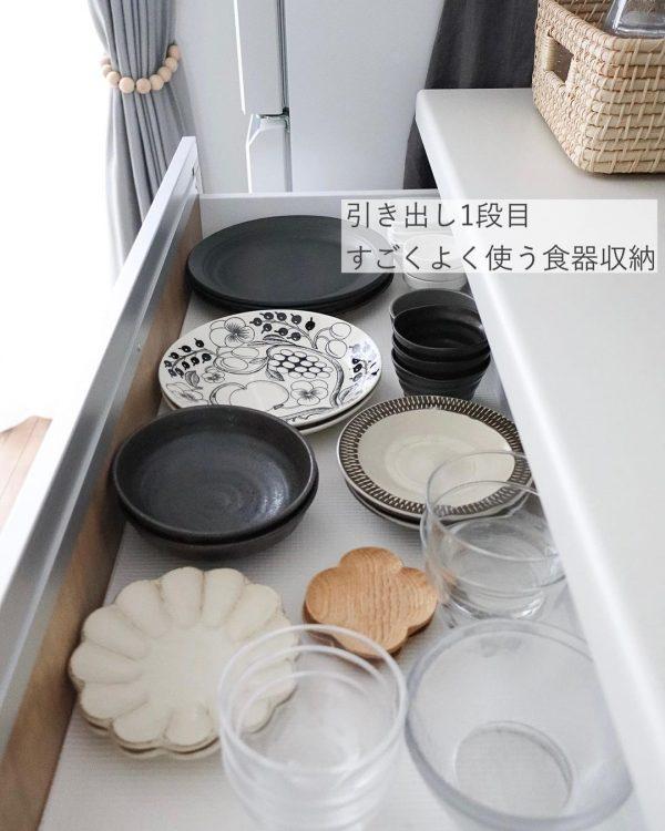 使い勝手の良い食器収納術