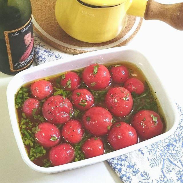 サラダにも!バジルとトマトのマリネレシピ