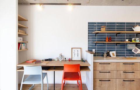 作業スペース活用のホームオフィスレイアウト