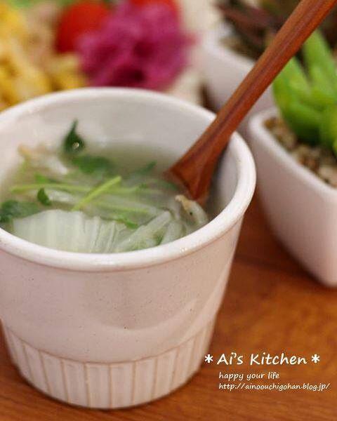 簡単な作り方でできる!白菜スープ