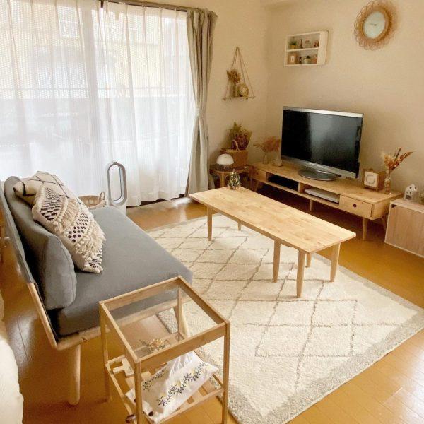 お気に入りの素敵な家具で作るリビング