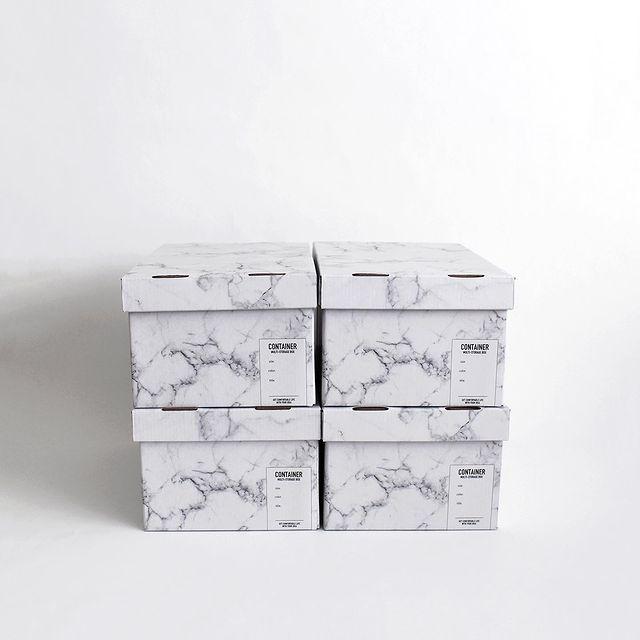 大理石柄収納ボックス
