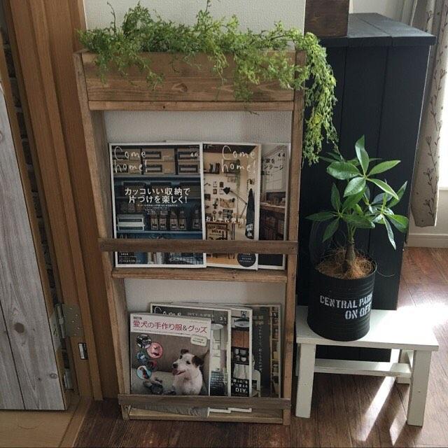壁掛けフェイクグリーンのおしゃれな飾り方【ボックスに入れる】