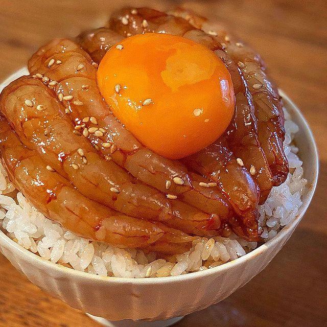 夕飯に人気の豪華レシピ!赤海老漬け丼