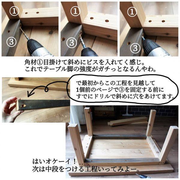 ローテーブルの作り方7