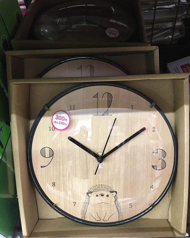 ダイソーの掛け時計