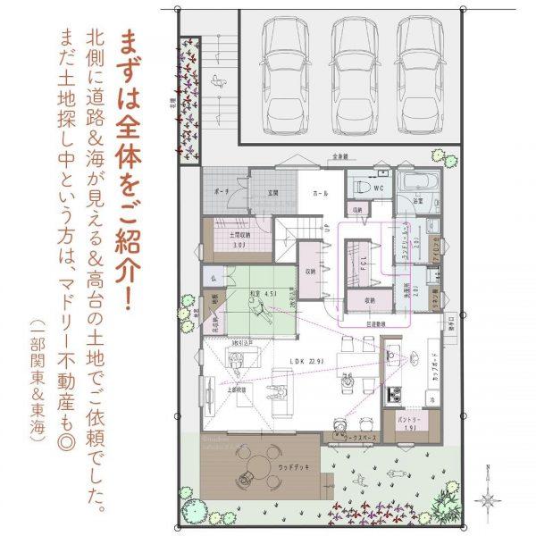 家事まわりは一直線!キッチンと水回りがタテの家。2