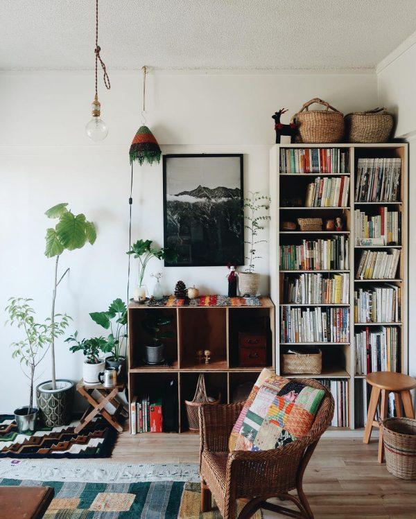 レトロと自然を楽しむ「帰りたくなる家」。団地の一人暮らしインテリア
