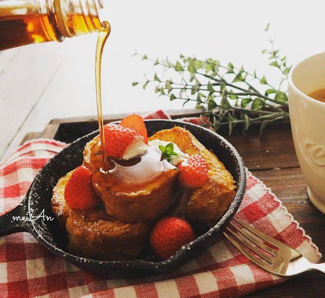 食卓映える♡いちごのフレンチトーストレシピ