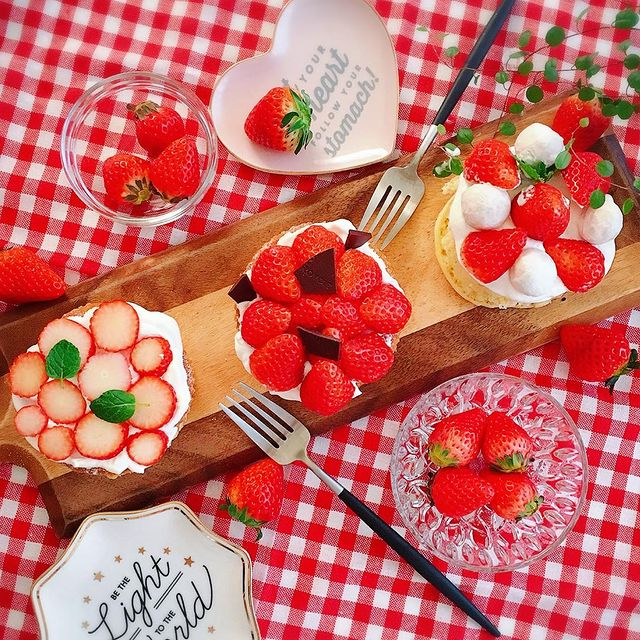 魅せる♪ショートケーキ風ホットケーキレシピ