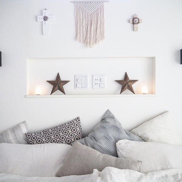 ホワイト寝室