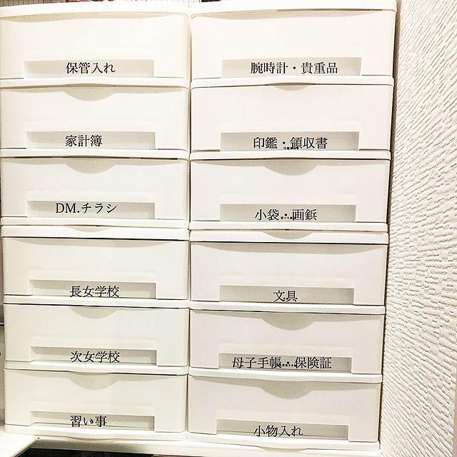 ラベリングして文房具を分かりやすく収納