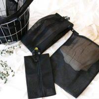 しっかりとした素材の「洗濯ネット」。旅行やジムでの収納ポーチにも使える!