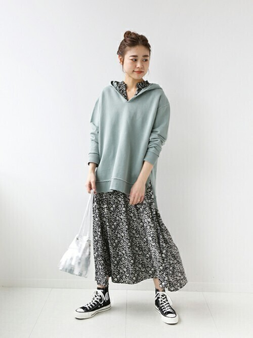 [JOURNAL STANDARD] OUT SEAM ピグメントフーディースウェット◆