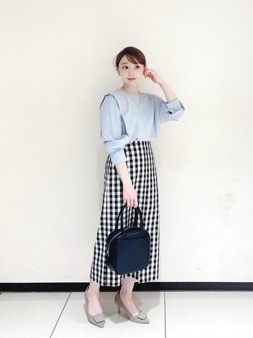 [Te chichi] ギンガムチェックアソートタイトスカート