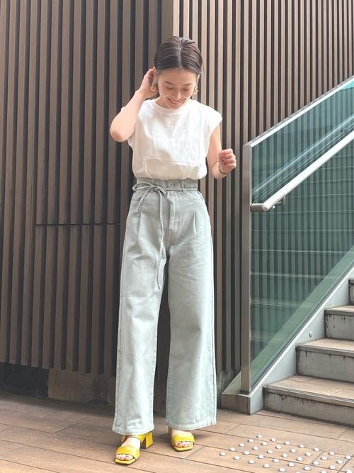 [FREE'S MART] 【Sシリーズ対応】タックワイドデニムパンツ