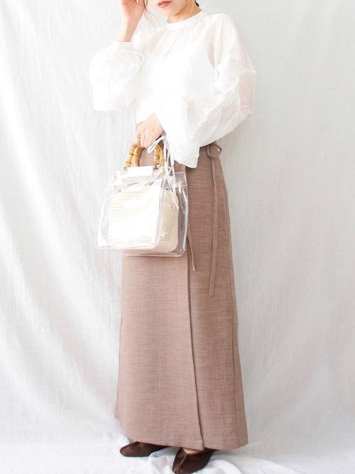 GUのナローラップスカート