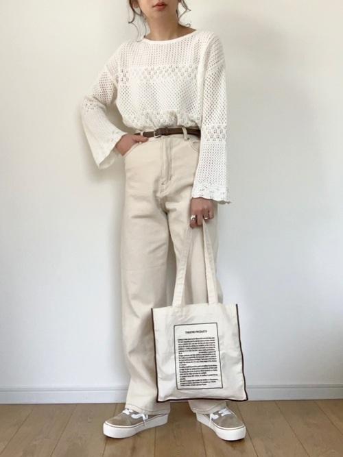 GUのレーシースカラップセーター