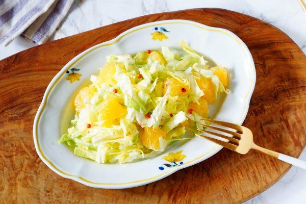 「今月のインナービューティーレシピ!」~春キャベツと柑橘の美肌サラダ~