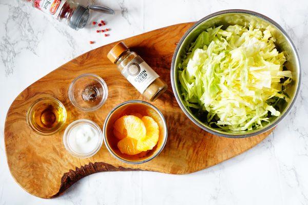 「今月のインナービューティーレシピ!」~春キャベツと柑橘の美肌サラダ~2
