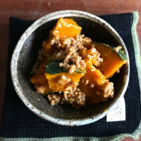 簡単主菜!かぼちゃのひき肉とろみあんレシピ