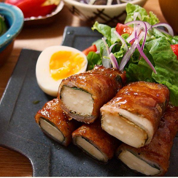 メインおかずの夏レシピ☆厚揚げの豚バラ巻き