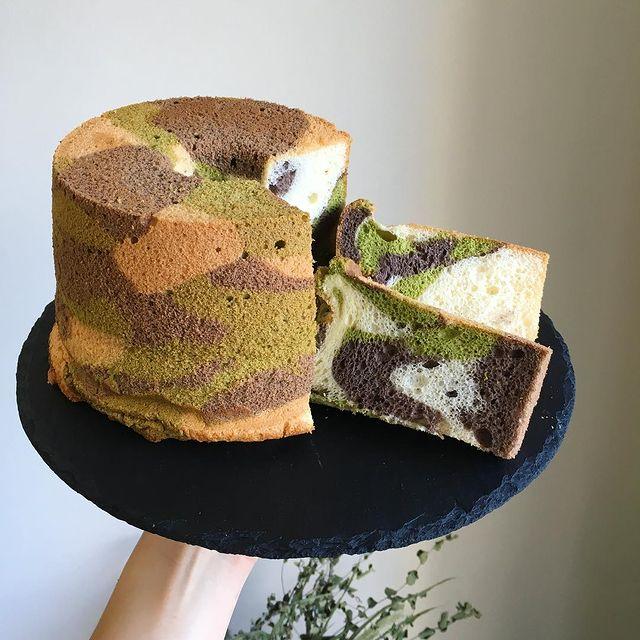 迷彩シフォンケーキ